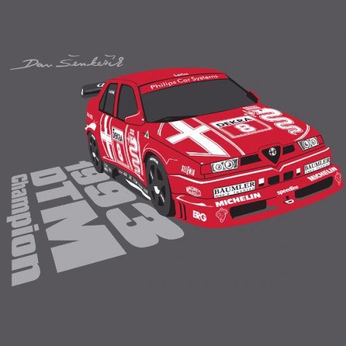 Dámské tričko s potiskem Alfa Romeo 155 2.5 V6 TI DTM 1993