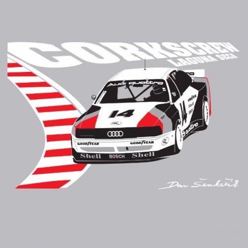 Dámské tričko s potiskem Audi 90 IMSA GTO quattro