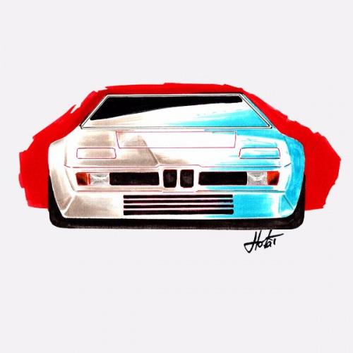 Dámské tričko s potiskem BMW M1