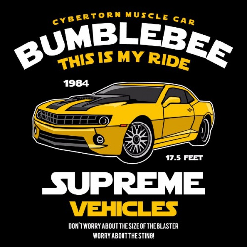 Pánské tričko s potiskem Bumblebee