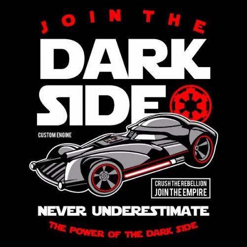 Dámské tričko s potiskem Join The Darkside