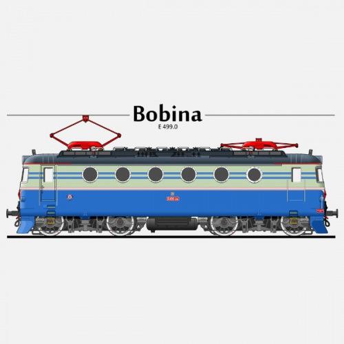 Pánské tričko s potiskem lokomotiva Škoda Bobina E 499 1