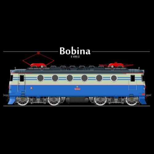 Dámské tričko s potiskem lokomotiva Škoda Bobina E 499 2