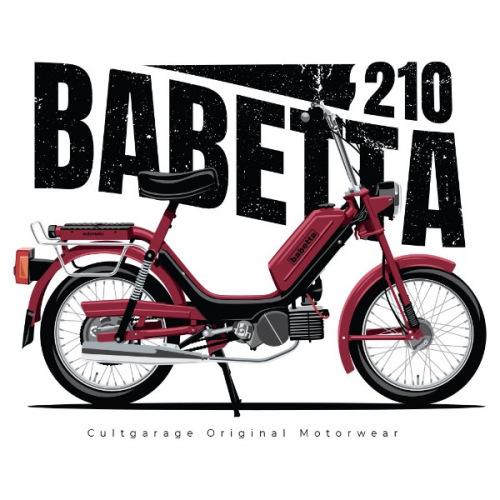 Pánské tričko s potiskem Jawa Babetta 210 vínová 1