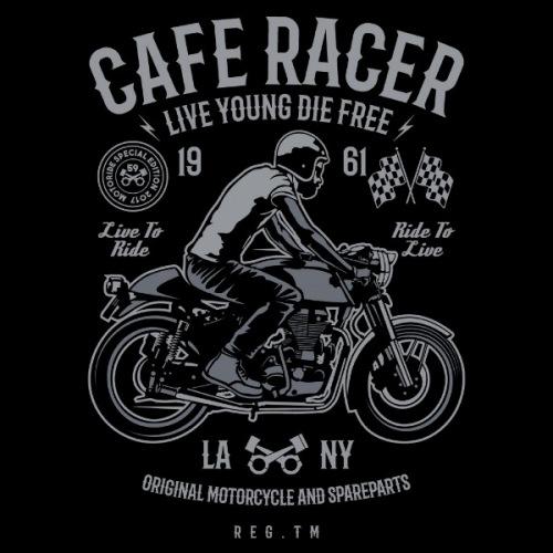Dámské tričko s potiskem Cafe Racer 1