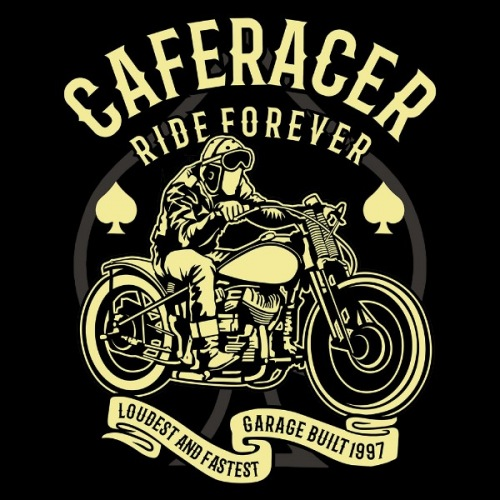 Dámské tričko s potiskem Cafe Racer 2