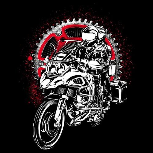 Pánské tričko s potiskem Enduro Bike Adventure
