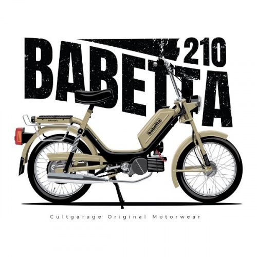 Pánské tričko s potiskem Jawa Babetta 210 béžová 1