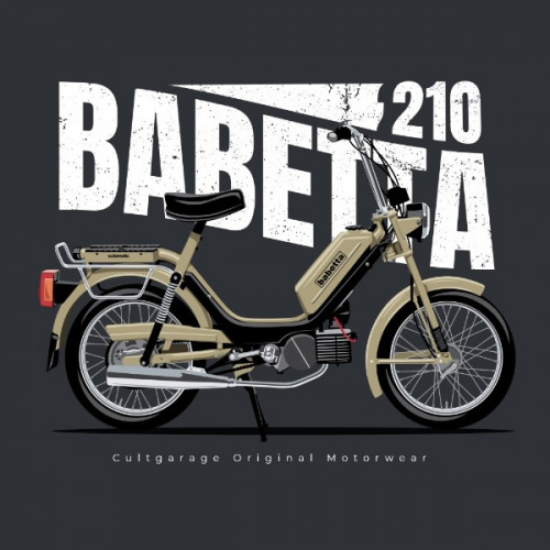 Dámské tričko s potiskem Jawa Babetta 210 béžová  2