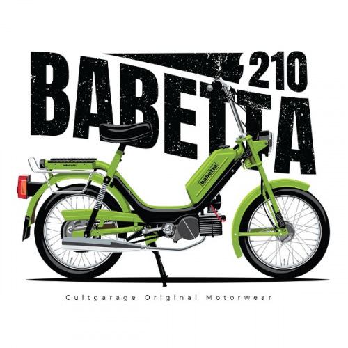 Pánské tričko s potiskem Jawa Babetta 210 zelená 1