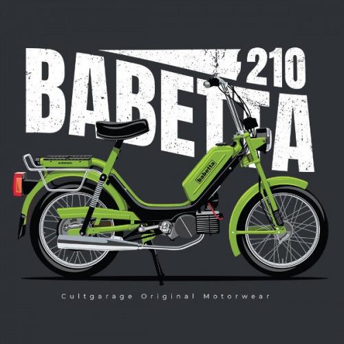 Pánské tričko s potiskem Jawa Babetta 210 zelená 2