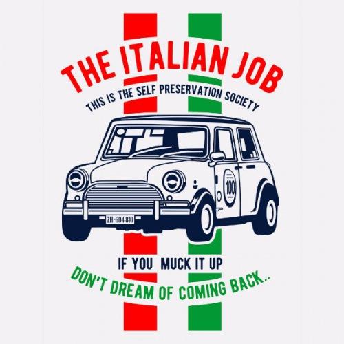 Dámské tričko s potiskem Mini Cooper: Italian Job