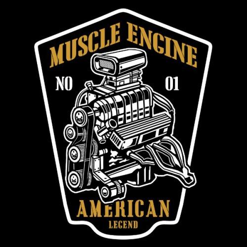 Dámské tričko s potiskem Muscle Engine