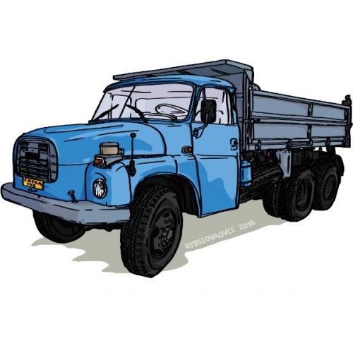 Panské tričko s potiskem Tatra 148 modrá