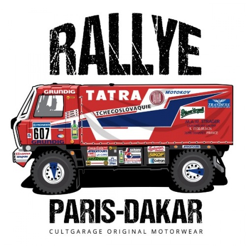 Pánské tričko s potiskem Tatra 815 4X4 DAKAR (1987) 1