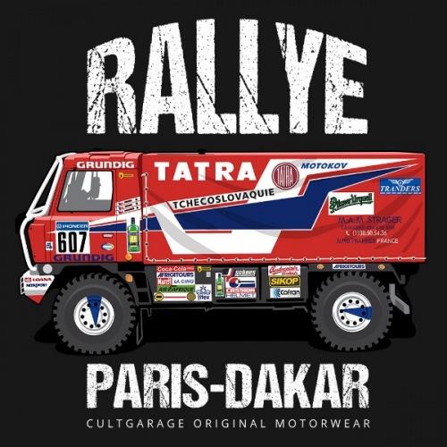 Pánské tričko s potiskem Tatra 815 4X4 DAKAR (1987) 2