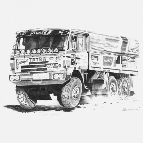 Pánské tričko s potiskem Tatra 815 6x6 Dakar