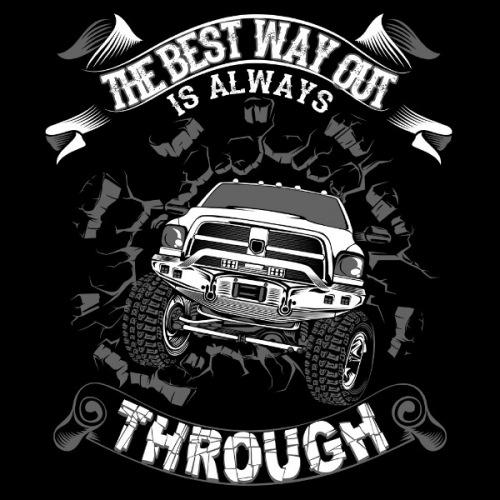 Pánské tričko s potiskem Off Road Through