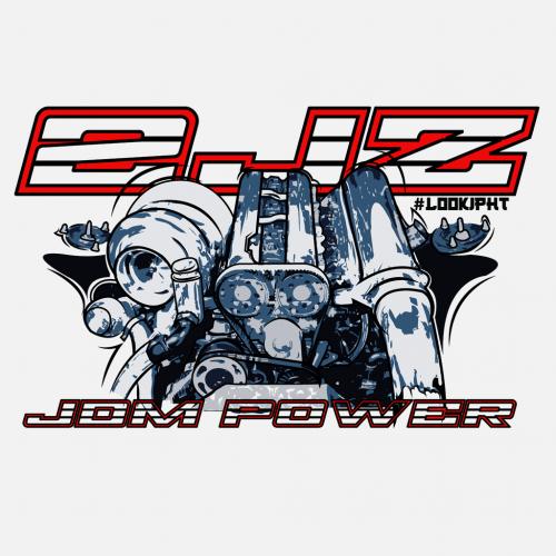 Dámské tričko s potiskem Motor 2JZ by Looki