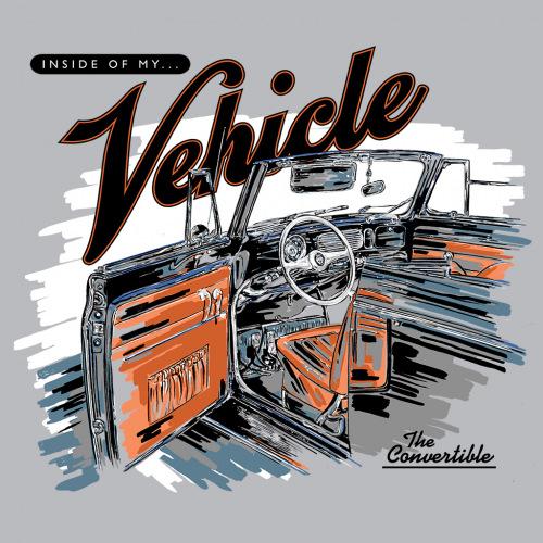 Pánské tričko s potiskem Vehicle Interior