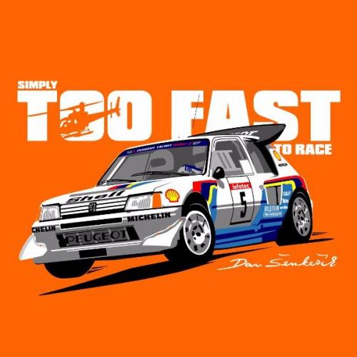Dámské tričko s potiskem Peugeot 205: Group B