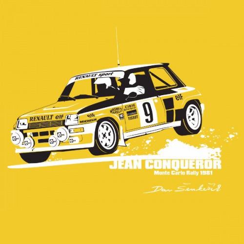 Dámské tričko s potiskem Renault r5 Turbo: Ragnotti