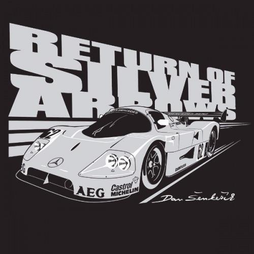 Dámské tričko s potiskem Mercedes Sauber C9