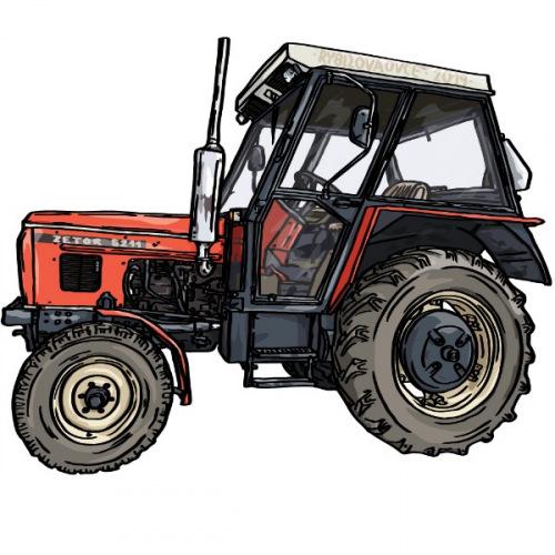 Dámské tričko s potiskem traktor Zetor 5211