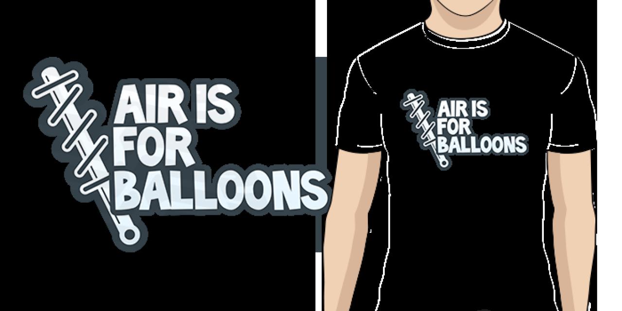Pánské tričko s potiskem Air is for balloons modrá d864084e2b