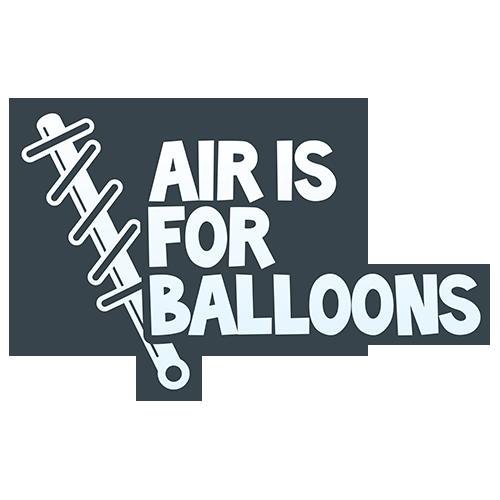 Dámské tričko s potiskem Air is for balloons modrá