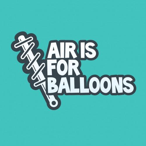 Pánské tričko s potiskem Air is for balloons modrá