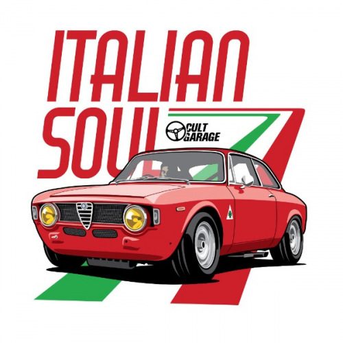 Pánské tričko s potiskem Alfa Romeo GT Junior: Italian Soul