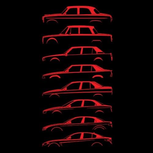 Dámské tričko s potiskem Alfa Romeo Silueta červená 1