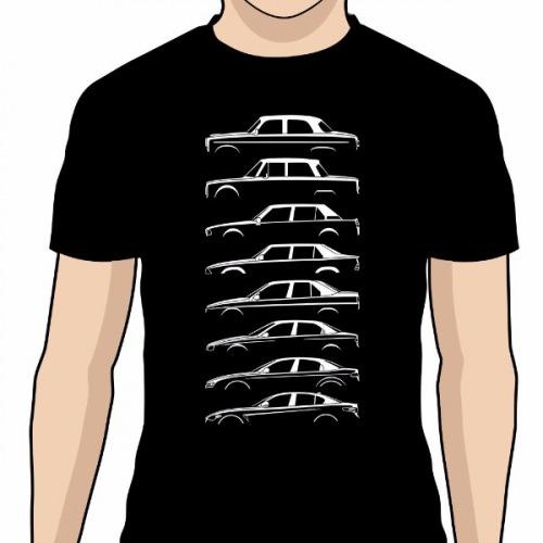 6c33bf897836 Pánské tričko s potiskem Alfa Romeo Silueta bílá 1