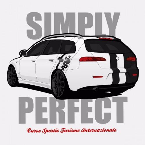 Dámské tričko s potiskem Alfa Romeo 159 Sportwagon