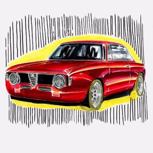 Dámské tričko s potiskem Alfa Romeo Junior GTA