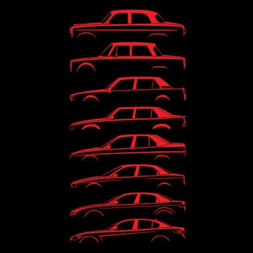 Pánské tričko s potiskem Alfa Romeo Silueta červená 1