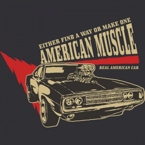Women´s t-shirt American Muscle 1 Light