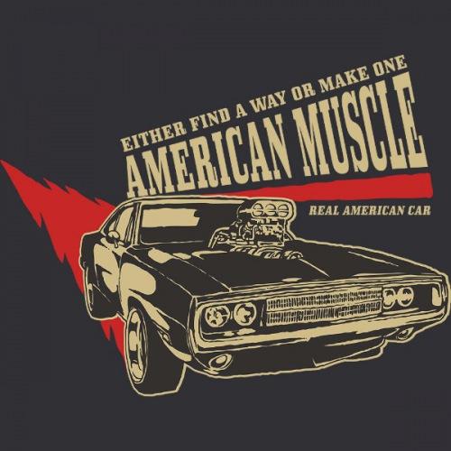 Dámské tričko s potiskem American Muscle 1 Light