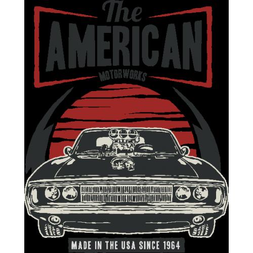 Pánské tričko s potiskem American Muscle 2 Dark