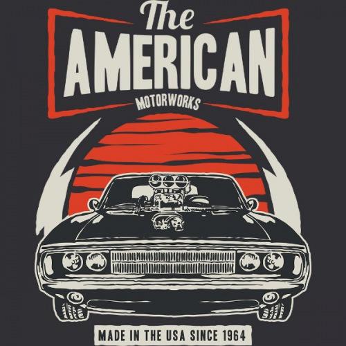 Pánské tričko s potiskem American Muscle 2 Light