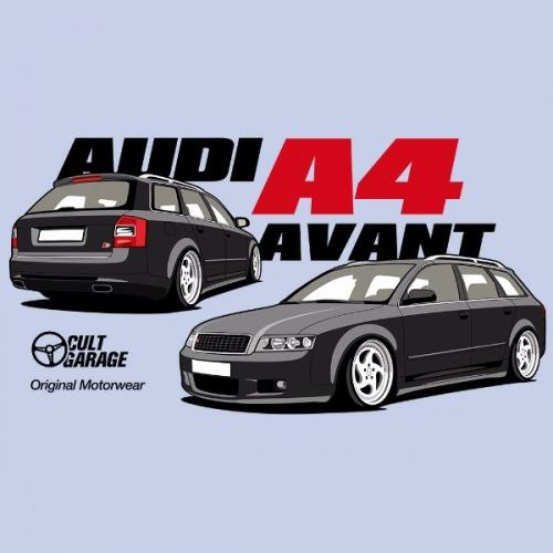 Dámské tričko s potiskem Audi A4 Avant černá