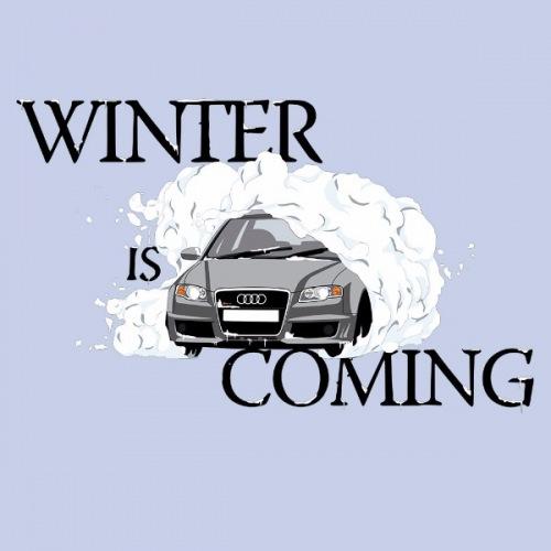 Dámské tričko s potiskem Audi A4: Winter Is Coming