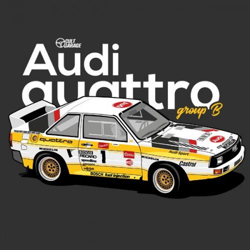 Dámské tričko s potiskem Audi Quattro S1 Group B  ver 2