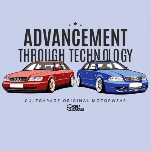 Dámské tričko s potiskem Audi S4:ATH 1