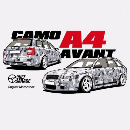 Dámské tričko s potiskem Audi A4 Avant Camo