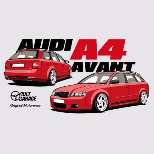 Dámské tričko s potiskem Audi A4 Avant červená