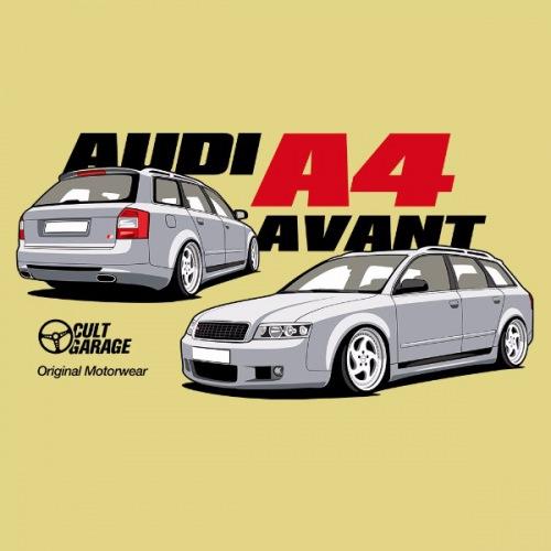 Dámské tričko s potiskem Audi A4 Avant stříbrná