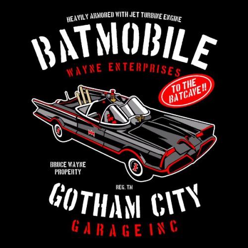 Dámské tričko s potiskem Batmobil  z roku 1966