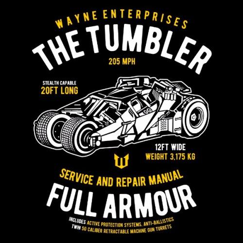 Dámské tričko s potiskem Batmobil - The Tumbler